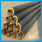 EN standard underground heating and cooling supply hdpe jacket pu fomed insulating tube for 120degC hot water