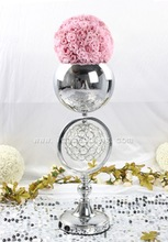 party decoration 2-round shape crystal lighted centerpiece for wedding planning