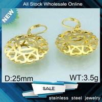 China wholesale new fashion hollow design goldfish earrings