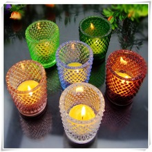hot design branded various shape scented candle in glass jar