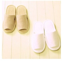 CHARNE solid color cotton warm anti-slip indoor slipper shoes