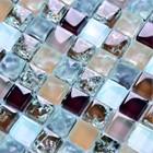 ice crackle red lantern mosaic tile