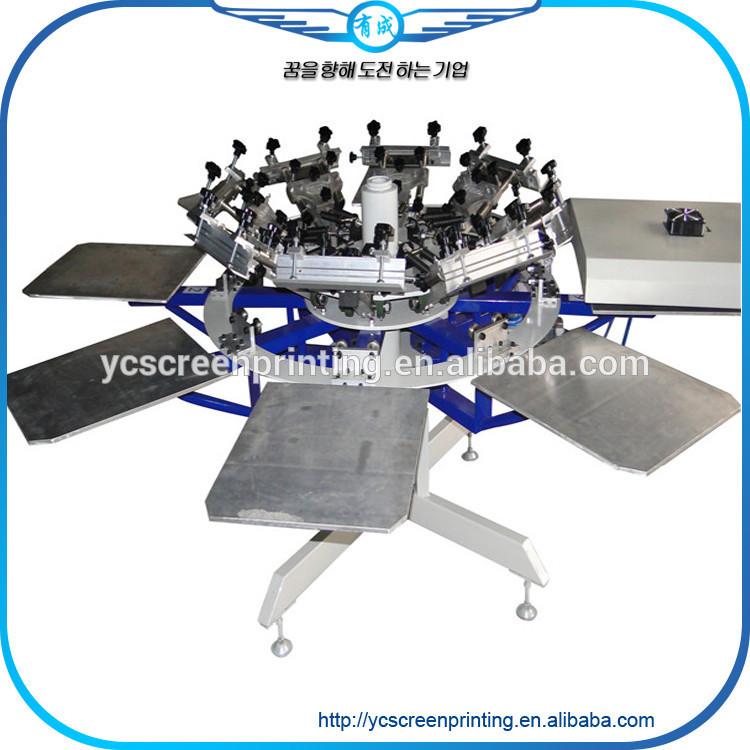 Rotary t Shirt Screen Printing