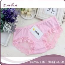 Girls sexy modal comfortable underwear transparent mesh back pants