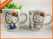 cute Hello Kitty ceramic coffee mugs promotional porcelain drinkware as gifts