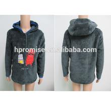 Small boy's coral fleece hoody coat