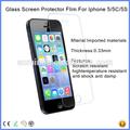 Produtos quentes para nova 2015 2.5d 9h anti- arranhões de vidro temperado de tela protetor de borda redonda 0.33mm ultrafinos para iphone 5 5s 5c