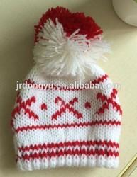 custom jacquard ski skull hat with pom pom