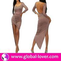 2015 wholesale high quality high low hem prom dresses