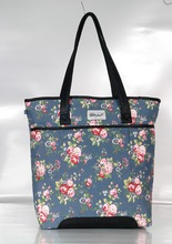Fashionable flora printing canvas bag for girls
