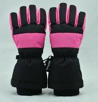 girls neoprene cuff thinsulate lining thermal finger gloves
