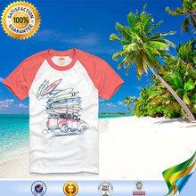 The most popular style no brand V-neck raglan t shirt