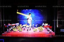 Big RGB LED screen metal slat wall display hook advertising 3D LED screen