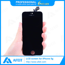 LCD Touch Screen Digitize with Back Cover For Iphone 5,Factory Price! Color LCD Screen For Iphone 5 Assembly