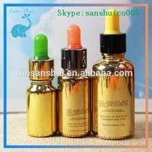 30ml gold essential oil glass bottle /aluminium caps e cigarette liquid smoke oil