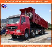 CNHTC trucks Sino trucks Durable howo dumper truck 30ton Dump body T type front tipping howo tipper 8*4