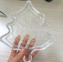 christmas tree glass plate