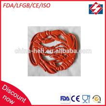 Round enamel cast iron trivet pad lobster parttern