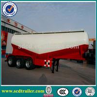 Shandong 3 axles 50CBM Cement Bulk tank truck Trailer with compressor for sale