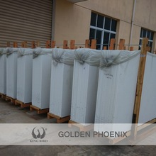 outdoor white crystallized glass panel