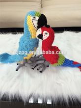 hand crochet parrot love birds stuffed plush bird toys