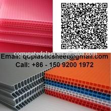 2mm 3mm 4mm 5mm Twin Wall Polypropylene Plastic Correx Sheets