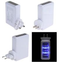 Professional Travel 6 USB US/EU/UK/AU Plugs AC Power Adapter Phone Tablet Charger