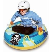 Heavy duty inflatable snow skiing sled tube snowboard kids