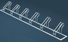 Outdoor galvanized steel bicycle rack