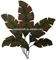 Metal artesanato decoração de parede folhas de palmeira