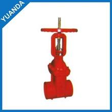 best sale ductile iron card hoop rising stem gluing gate valve