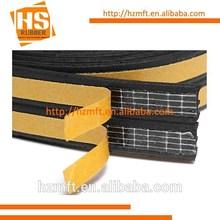 OEM self adhesive P profile EPDM sponge rubber extrusion