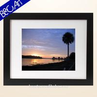 Realistic sunrise landscape oil painting