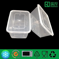 Disposable plastic food container chinese plastic containers with lid 1000ml