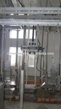 machine processing donkey hides