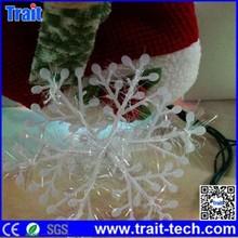 China 3 Pcs Christmas Plastic Snowflake Ornament Merry Xmas Tree House Decoration, Size: 11x11cm