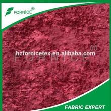 100%polyester upholstery fabric crushed velvet