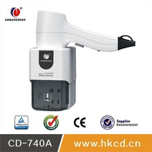 A Bathroom Hanging Waterproof Hair Dryer With Shaver Socket CD-740A