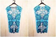 HIJ-14-WD-85-003 Printed blue dress