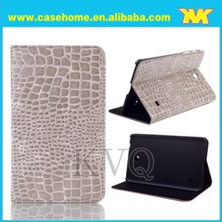 Croco leather case for Samsung Galaxy tab 4,Croco stand case for Samsung Tab 4 8.0