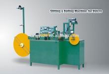 Velcro tape hook and loop roll fabric splitting & rolling machine