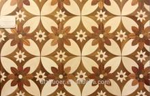 Teak sapele and hard maple parquet flooring
