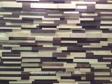 American walnut and Canadian hard maple wooden wallboard