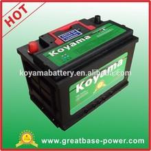 63ah 12V 56318-MF reliable maintenance free starting battery car battery