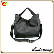 Laconic and Stylish PU Zipper Design One-Shoulder Bag/black Handbag For Female China manufacturer