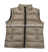 Lady 100%Polyester Padded Vest Garment stocklots