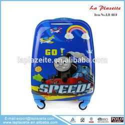 active cartoon kids luggage, cute kids luggage, 4 wheels hard plastic kids luggage