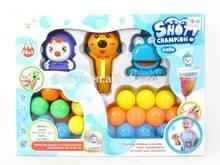 Kids funny bathroom game baby toy Intelligent shooting ball bath toy CF013943