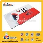 Promotional hard plastic credit card holder