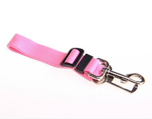 Pink Adjustable Dog Pet Car Safety Seat Belt Harness Restraint Lead Leash Travel Clip